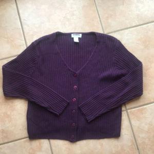 3/$30 Vintage Express Knit Purple Cardigan Medium